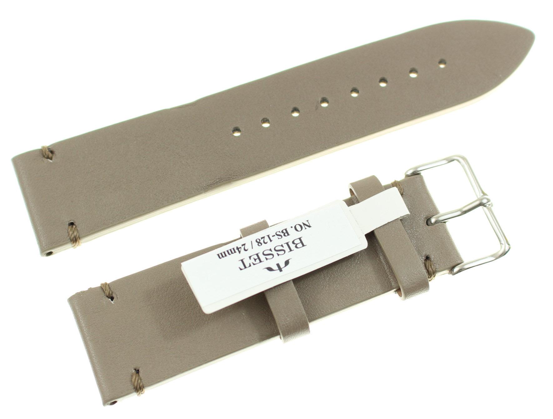 Skórzany pasek do zegarka 24 mm Bisset BS-128.24.22