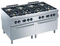 Kuchnia gazowa 8 palnikowa z piekarnikiem gaz. GN 2/1 56000W