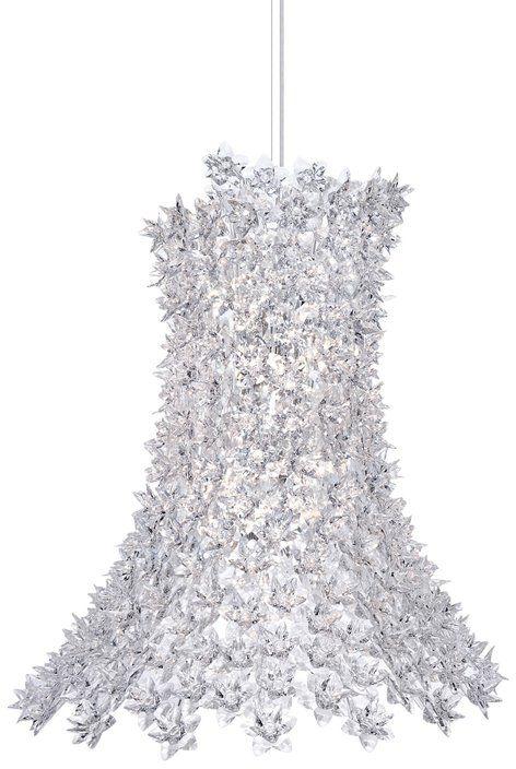 Bloom H70 przezroczysty - Kartell - lampa wisząca