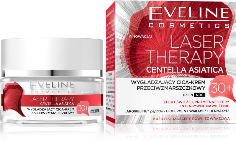 Eveline Cosmetics - LASER THERAPY - CENTELLA ASIATICA - Wygładzający krem przeciwzmarszczkowy - 30+