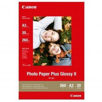 Canon PP-201 Photo Paper Plus Glossy, papier fotograficzny, błyszczący, biały, A3, 260 g/m2, 20 szt.