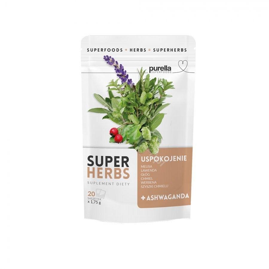 Purella SuperHerbs mieszanka ziół na uspokojenie i wyciszenie 20 saszetek