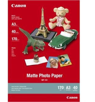 Canon MP-101 matowye Photo Paper, papier fotograficzny, matowy, biały, A3, 170 g/m2, 40 szt., drukowanie atramentowe