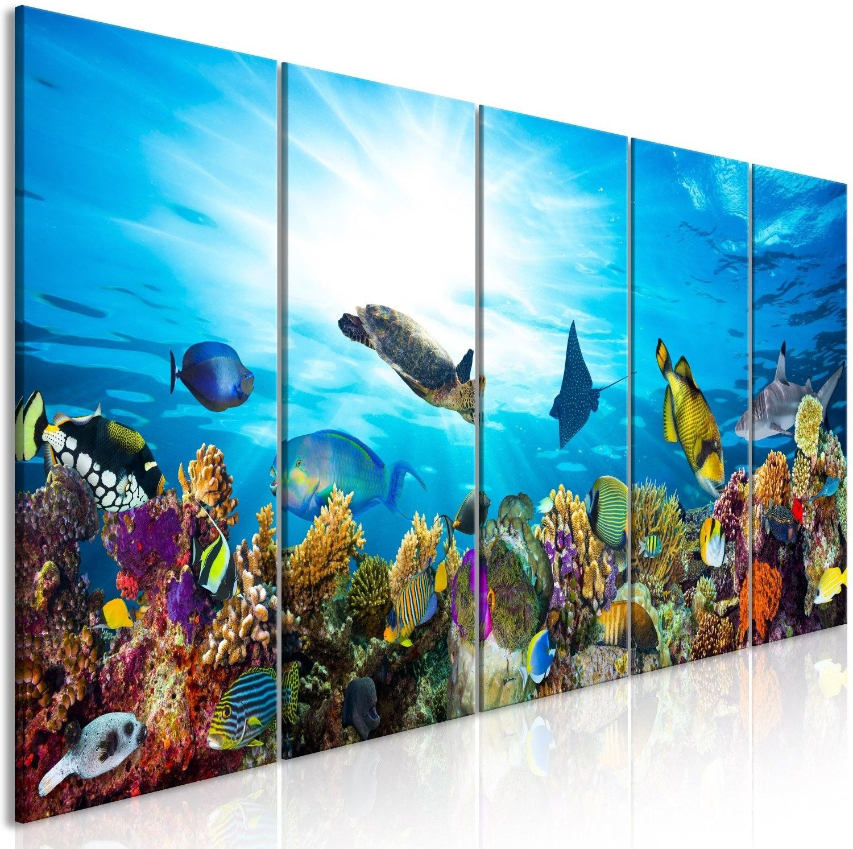 Obraz - rafa koralowa (5-częściowy) wąski