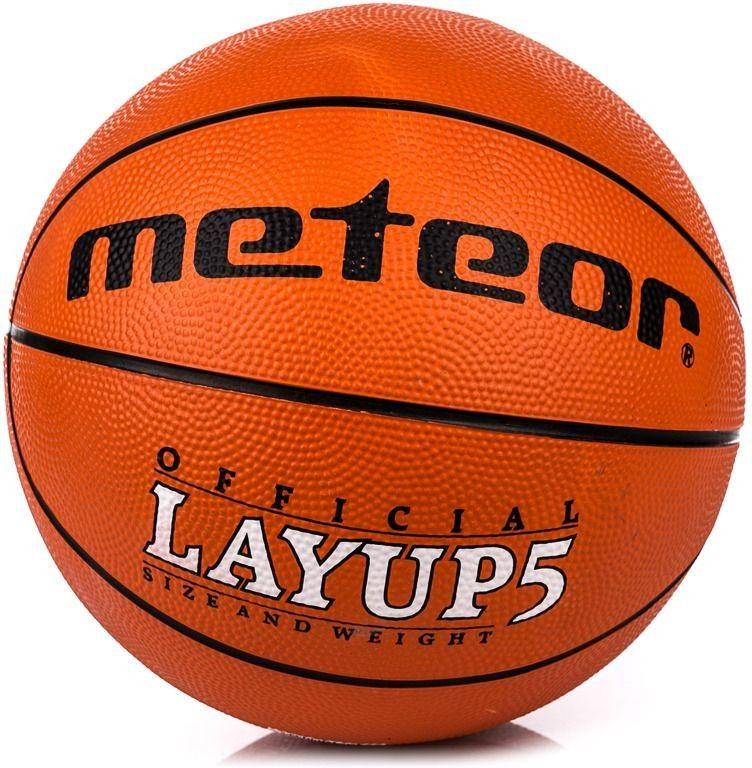 Piłka do koszykówki Meteor Layup #5 pomarańczowa
