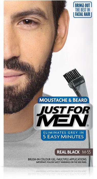 Just For Men M-55 NATURALNA CZERŃ (europejska) Odsiwiacz, Żel broda,wąsy,baki 2x14,2g