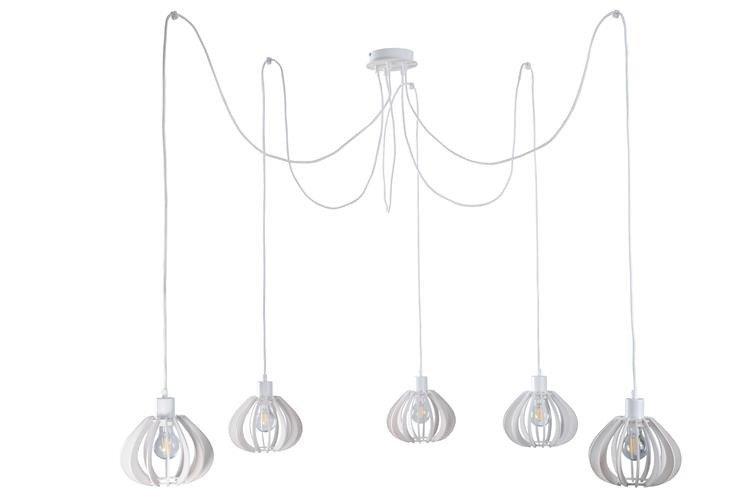 Nowoczesna lampa wisząca pająk NICOLETA 809 biały - 5 biały