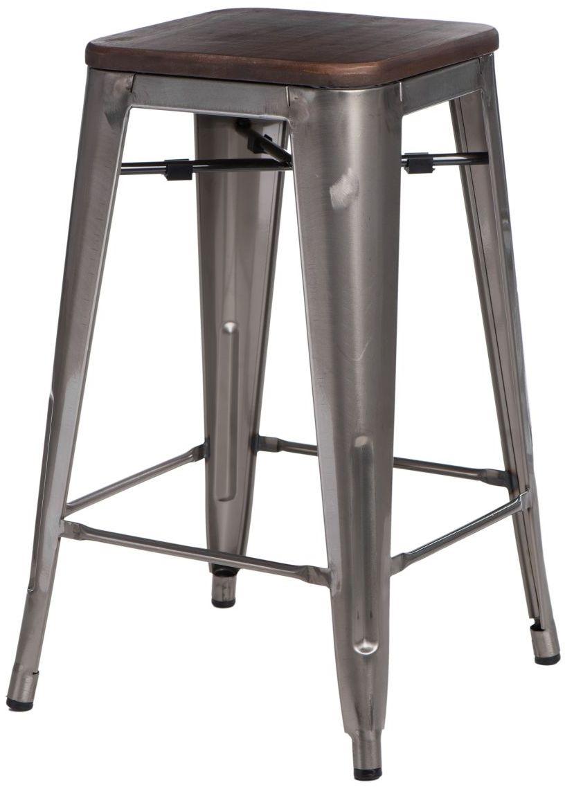 Hoker PARIS WOOD 65cm metaliczny-orzechowy