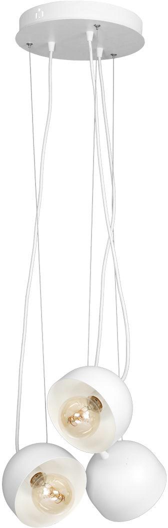 Milagro RON MLP585 lampa wisząca trzy klosze regulowane oprawa biała z matowym wykończeniem 3xE27 120W 35cm