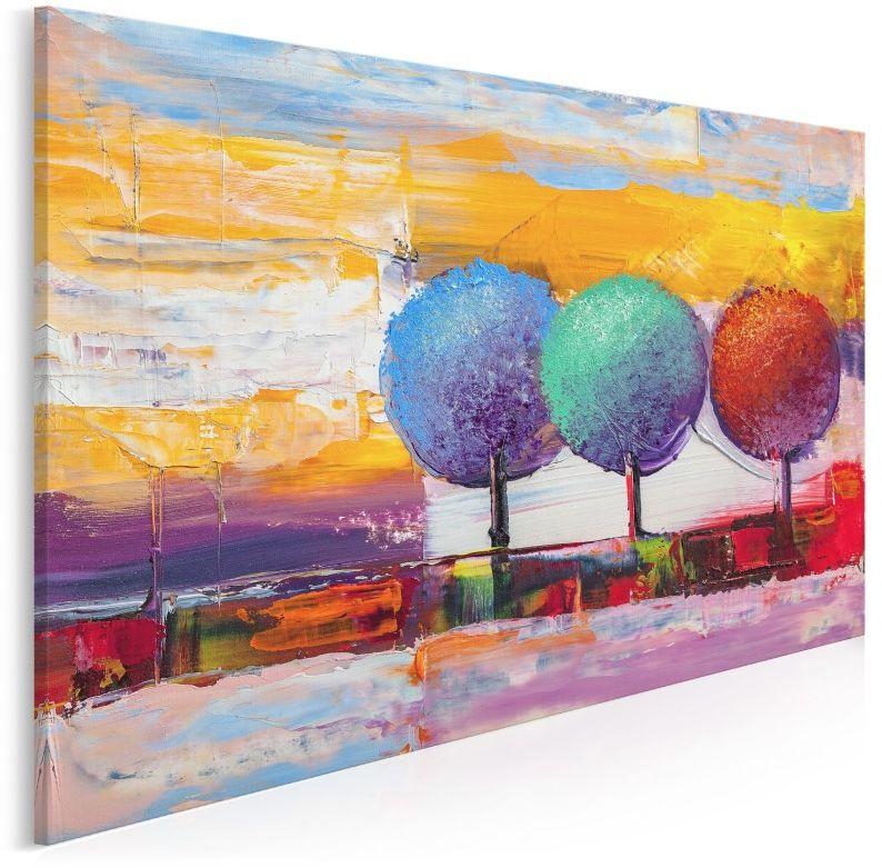 Leśny skansen - nowoczesny obraz na płótnie - 120x80 cm