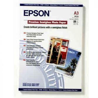 Epson S041334 Premium Semigloss Photo Paper, papier fotograficzny, półbłyszczący, biały, A3, 251 g/m2, 20 szt.