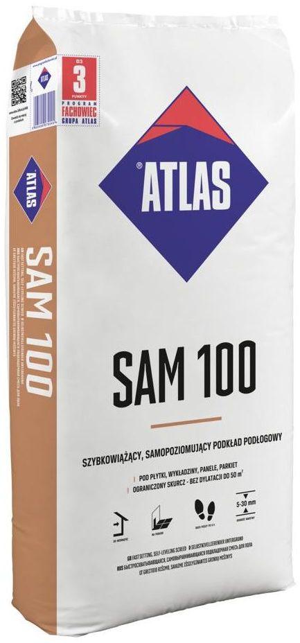 Posadzka samopoziomująca SAM 100 25 kg ATLAS