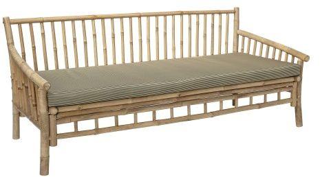 Bambusowa sofa ogrodowa Sole z poduszką
