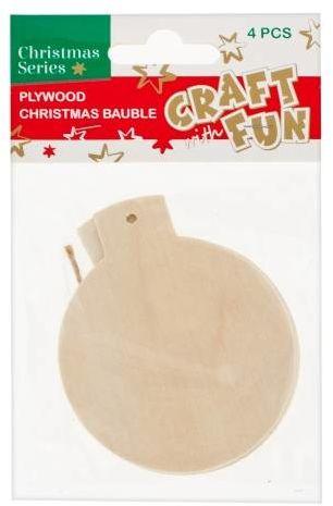 Zawieszki kreatywne drewniane Bombki DIY 9 cm 2 szt 438494-bombki