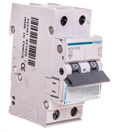Wyłącznik nadprądowy 1+N C 10A 6kA AC MCN510E