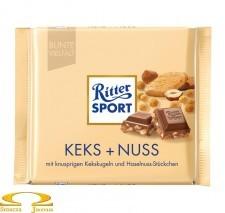 Czekolada Ritter Sport Keks + Nuss 100g