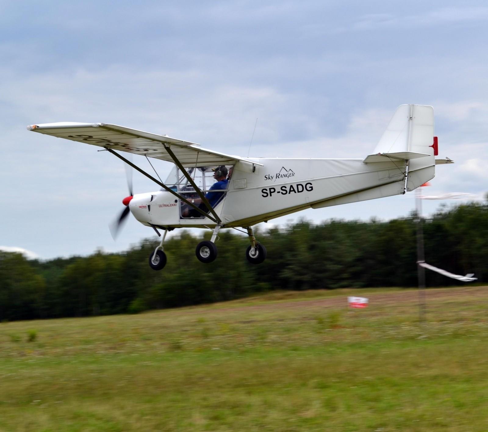 Lot zapoznawczy samolotem ultralekkim  Kraków