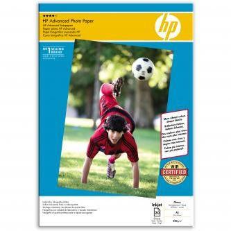 HP Q8697A Advanced Glossy Photo Paper, papier fotograficzny, błyszczący, biały, A3, 250 g/m2, 20 szt.