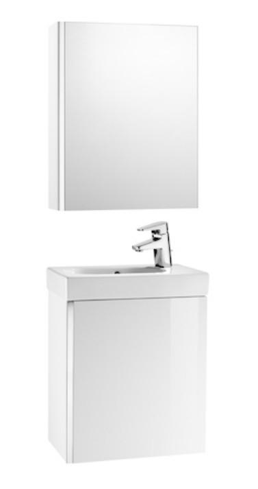 Roca Unik Mini zestaw łazienkowy z lustrem 45cm biały połysk A855866806