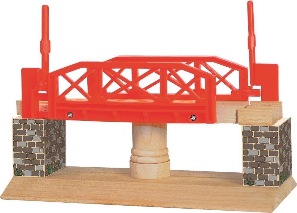 Most rotacyjny do rozbudowy kolejki drewnianej