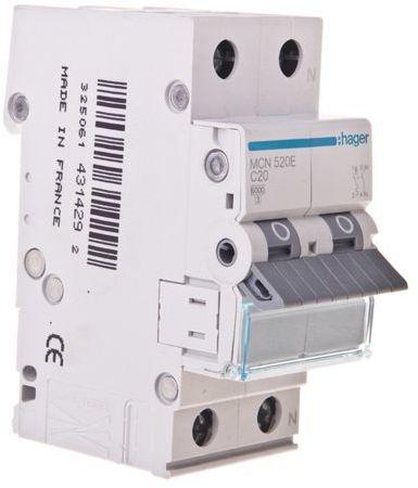Wyłącznik nadprądowy 1+N C 20A 6kA AC MCN520E