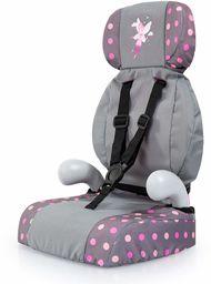 Bayer Design 67566AA Deluxe fotelik samochodowy, akcesoria dla lalek, zabawka dla chłopców i dziewcząt, szary, kropki z wróżką