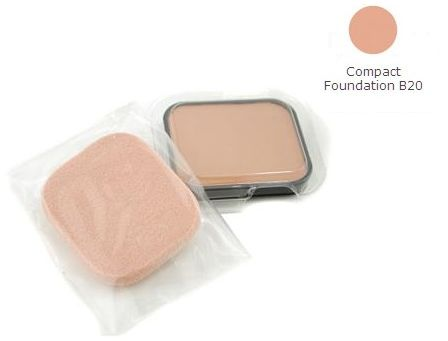 Shiseido The Makeup Compact Foundation (Refill) SPF 15 B20 Natural Light Beige Kremowo-pudrowy podkład w kompakcie (wkład) - 13g Do każdego zamówienia upominek gratis.