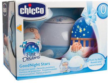Chicco Projektor Gwiazdek Niebieski 0m+ Chicco Projektor z Lampką 0m+