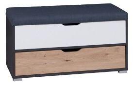 Kufer iwa grafit/biały,dąb artisan
