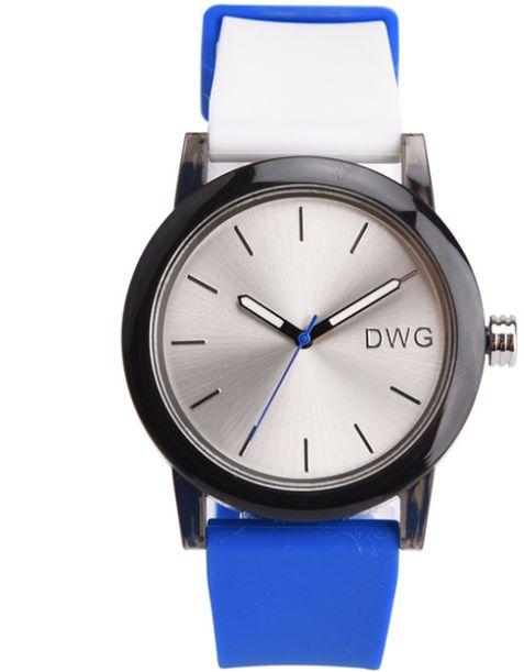 Zegarek DWG na niebieskim pasku 01