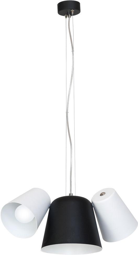 Milagro ANDREA MLP593 lampa wisząca metalowa biała czarna regulacja wysokości 3xE27 45cm
