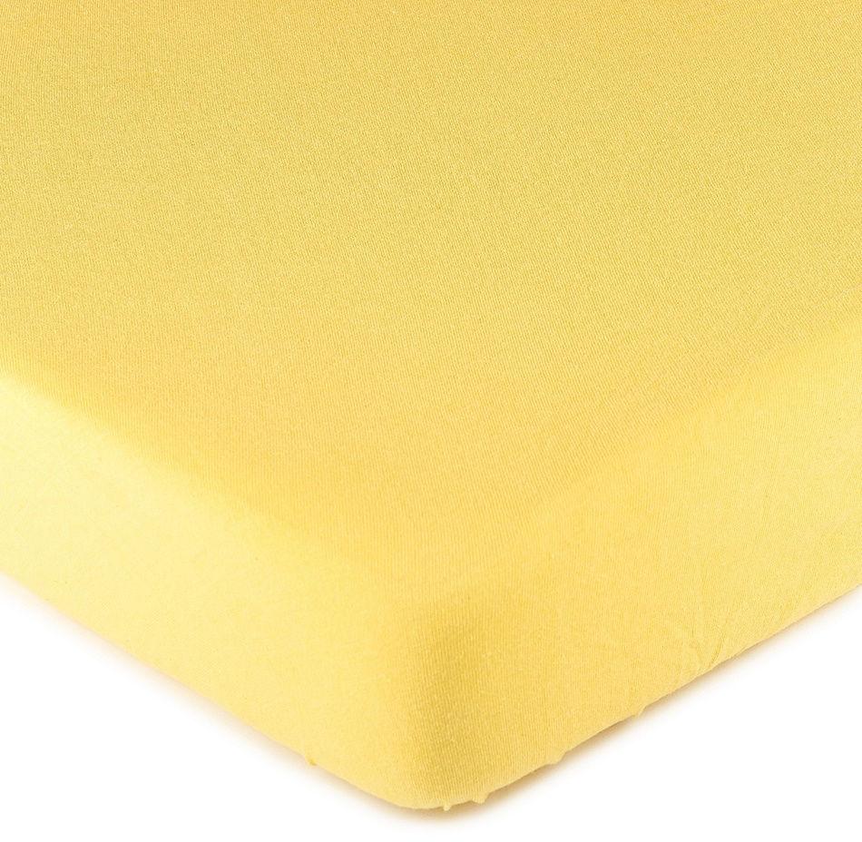 4Home prześcieradło jersey, żółte, 90 x 200 cm, 90 x 200 cm
