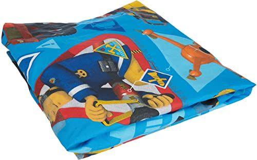 Jerry Fabrics JF0239 Fireman Sam prześcieradło 90 x 200 cm bawełna strażak Sam