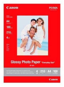 Canon GP-501 Photo paper Glossy, papier fotograficzny, błyszczący, biały, A4, 210 g/m2, 100 szt., A4