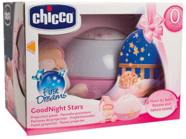 Chicco Projektor Gwiazdek Różowy 0m+ Chicco Projektor z Lampką 0m+
