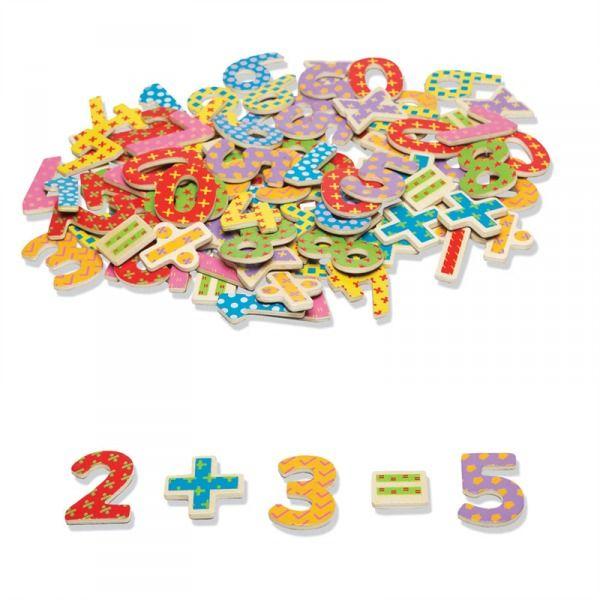 Kolorowe magnesy na lodówkę cyferki - numery 100szt