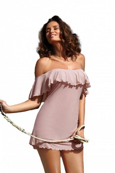 Sukienka plażowa marko juliet taupe m-461 (4)
