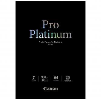 Canon PT-101 Photo Paper Pro Platinum, papier fotograficzny, błyszczący, biały, A4, 300 g/m2, 20 szt.