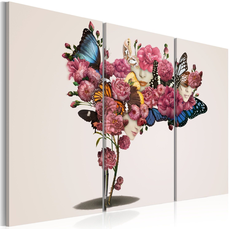 Obraz - motyle, kwiaty i karnawał