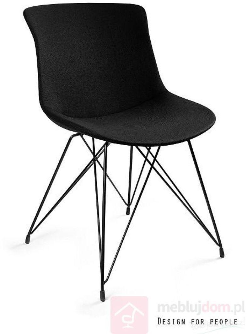 Krzesło tapicerowane EASY BR Unique Czarny  RABAT na stronie!