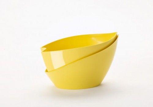 Doniczka ozdobna samonawadniająca 21x14x14 Żółta Doppio