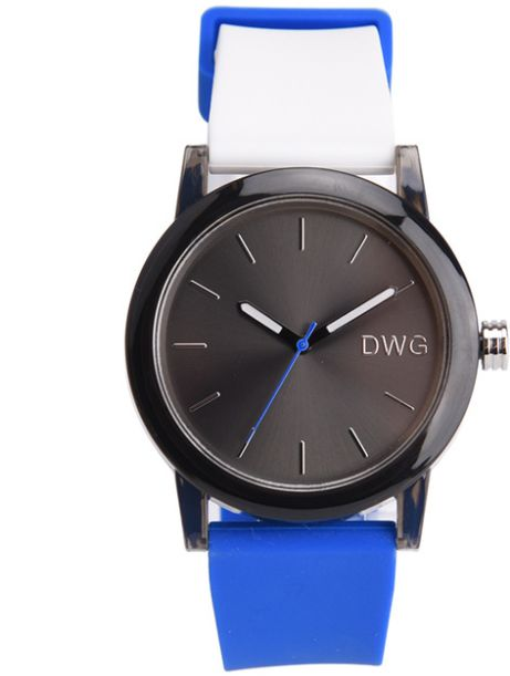 Zegarek DWG na niebieskim pasku 02