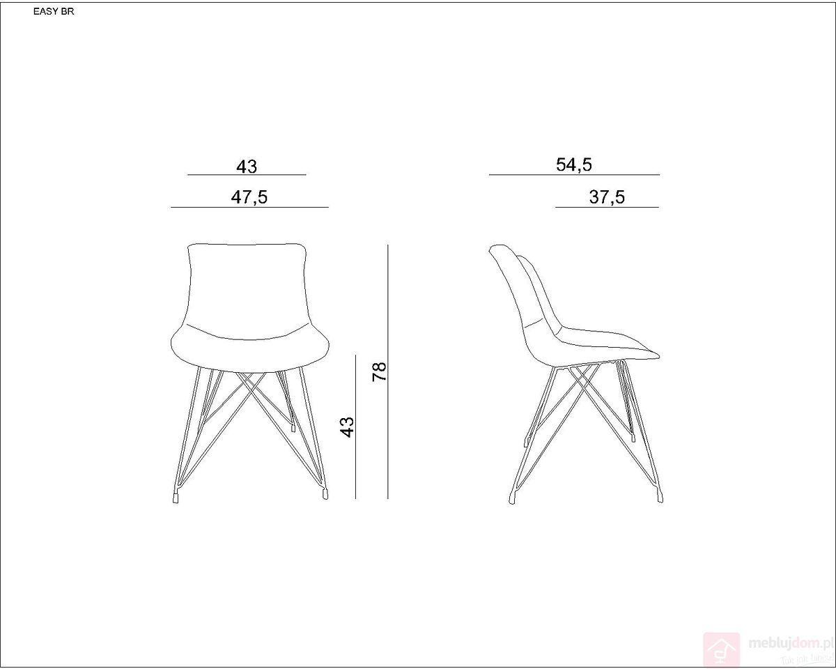 Krzesło tapicerowane EASY BR Unique Szary ciemny  RABAT na stronie!