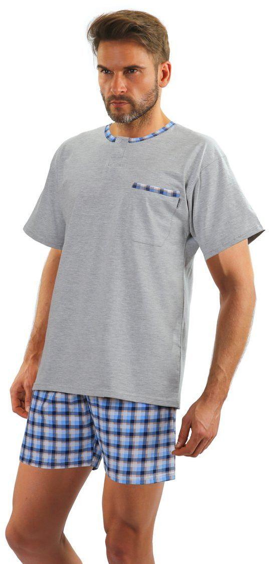 Bawełniana piżama męska JASIEK z krótkim rękawem Sesto Senso