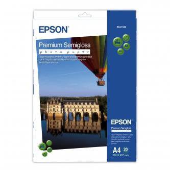 Epson S041332 Premium Semigloss Photo Paper, papier fotograficzny, półpołysk, biały, A4, 251 g/m2, 20 szt.