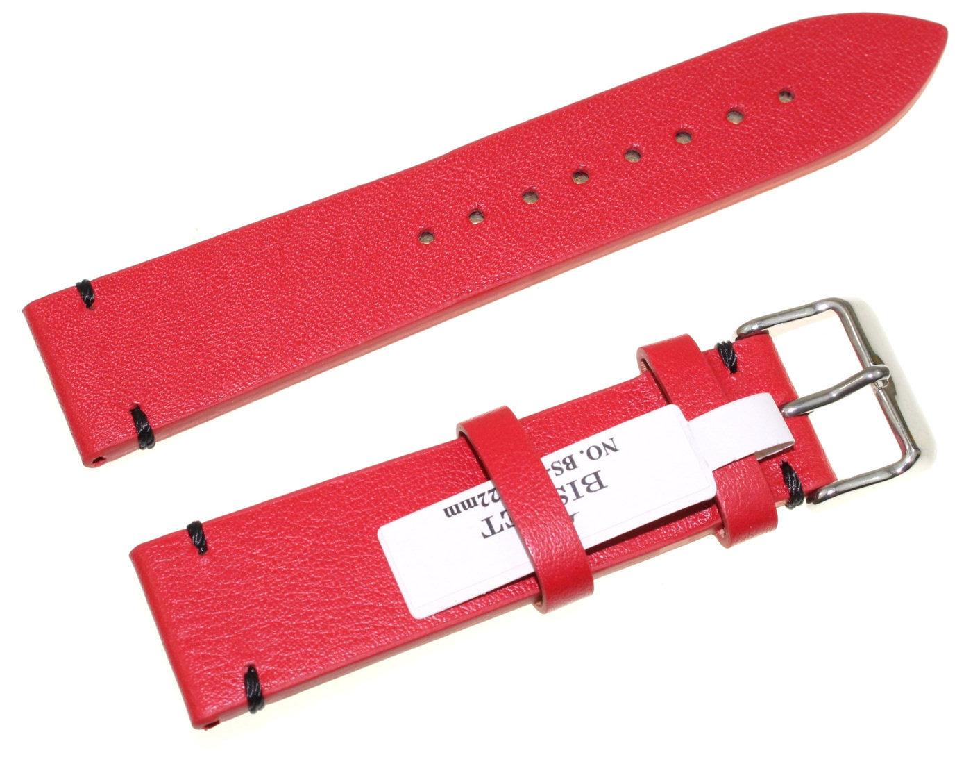 Skórzany pasek do zegarka 22 mm Bisset BS-133.22.20
