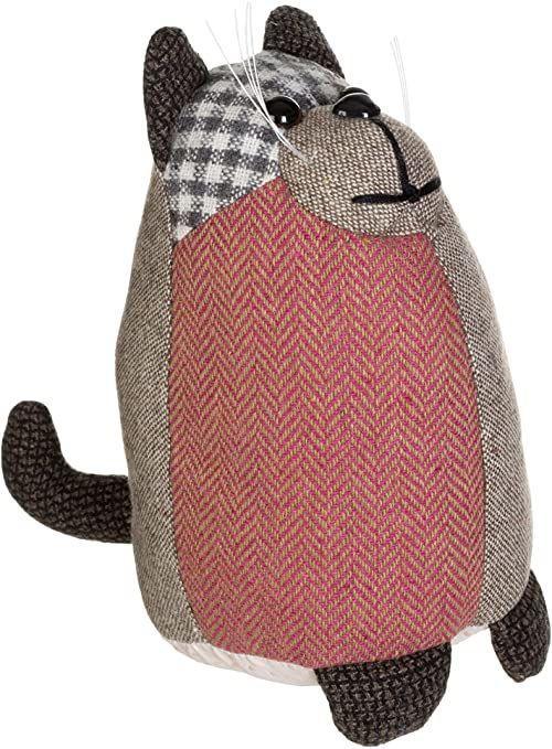 Premier Housewares Heritage Small Brown Cat stoper do drzwi, wypełnienie wazonem z włókna kanalikowego, poliester/akryl, brązowy, 19 x 10 x 18