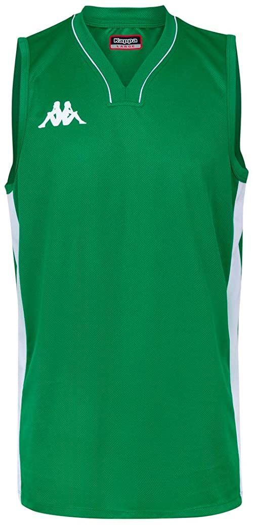Kappa Męska koszulka Cairo, zielona, 30 cm