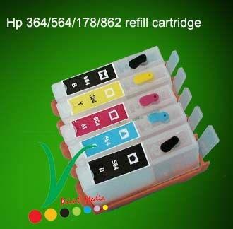 Zestaw 5x tusz do HP 364/564/920 550ml