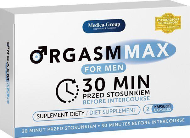ORGASM MAX DLA PANÓW 30 minut przed seksem 2 kapsułki